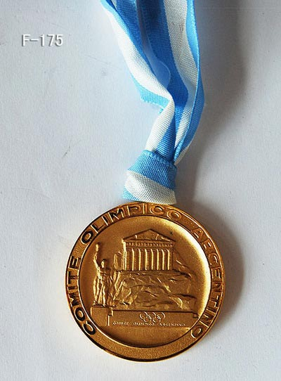 The Commemorative Medal for C.K.Wu Awarded by Argentina Olympic Committee on July 1997