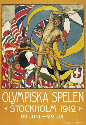 Stockholm 1912 Olympic Poster