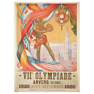 Antwerp 1920 Olympic Poster