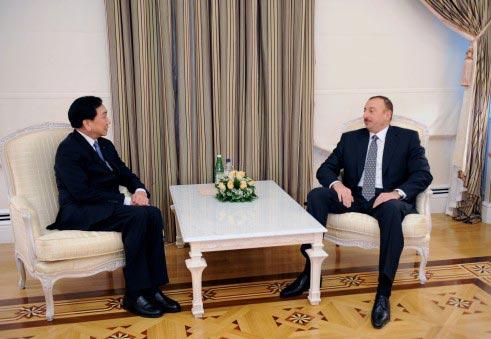 吴经国主席与亚塞拜然总统Ilham Aliyev会面