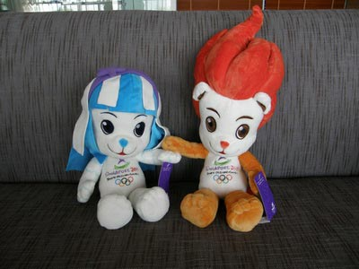 2010 YOG Mascots Merly and Lyo